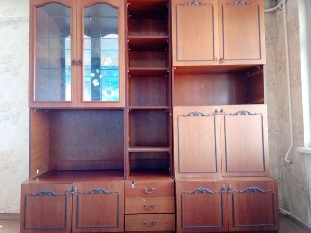 Стенка Мебель 8секций, коричневая матовая,315х58х228,пр-воСССР,частями