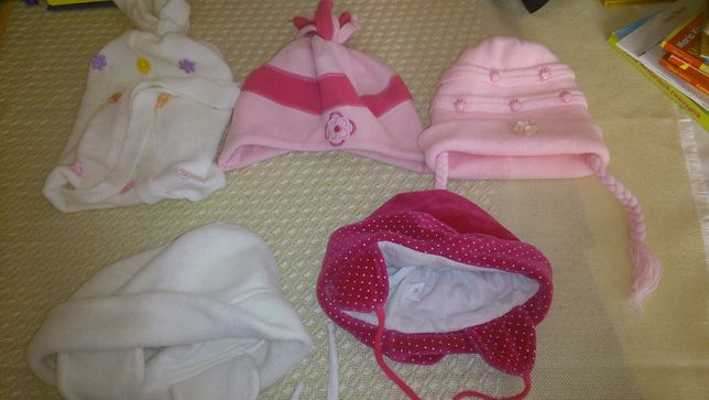 czapki niemowlęce dziewczęce cena za komplet worek 120 l