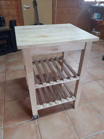Movel para cozinha, tampo de madeira