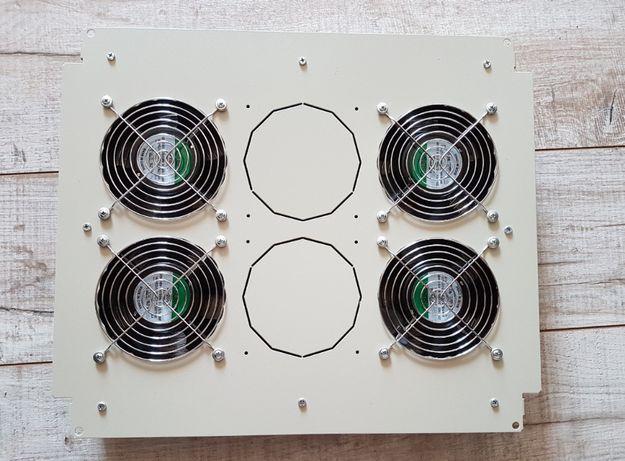 Вентилятор универсальный с термореле,серый AESP REC-RMFTU-4A-GY