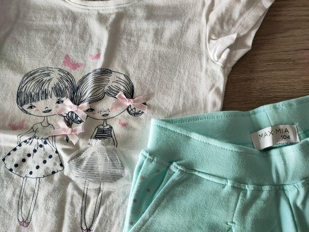 Bawełniany zestaw Spodenki + bluzka roz 104