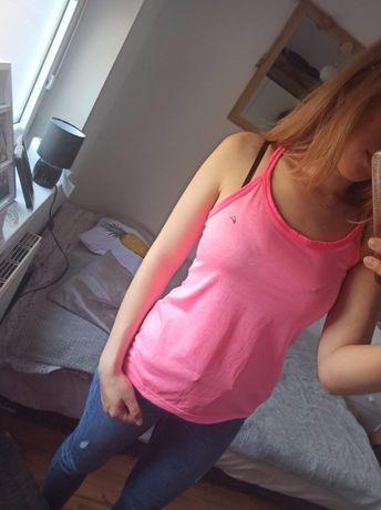 Koszulka T-shirt sportowa neonowa różowa F&F