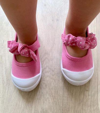 Тапочки мягкие кеды туфли летние розовые для девочки 24
