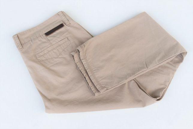 Męskie spodnie beżowe chinosy REVIEW r. L W34 L32 idealny stan