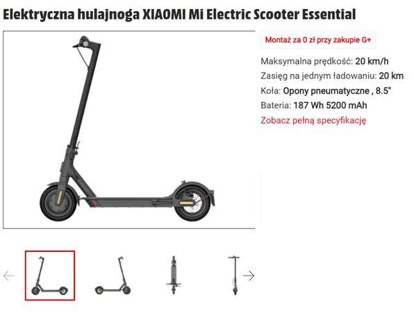 NOWA Hulajnoga XIAOMI Mi Electric Scooter Essential (NIE LITE!) GW!