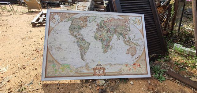 Quadro Mapa Mundo - national geographic