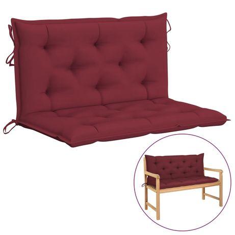 vidaXL Almofadão para cadeira de baloiço 100 cm tecido vermelho tinto 315001