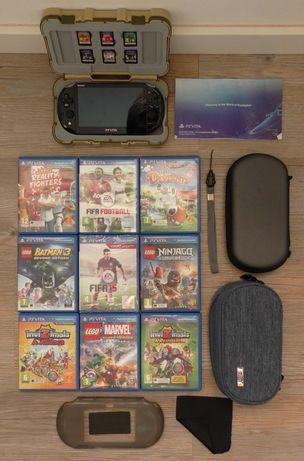 Pack Playstation Vita Slim + 9 Jogos + (Extras de Oferta)