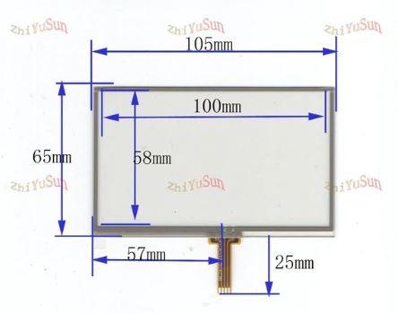 Дисплей сенсор gps навигатора 4,3 дюйма 40 pin KD43G18-40NB-A1 A5