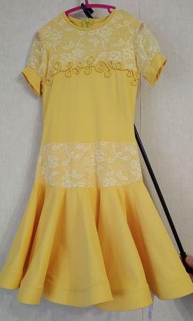 Платье для бальных танцев , детское. Basic Желтое