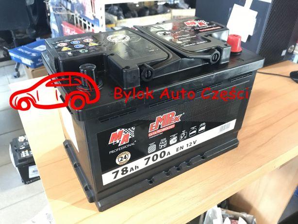 """AKUMULATOR 78AH/700A """"Moje Auto"""" NOWY!!! Prawy+ """"Bylok Auto Części"""""""