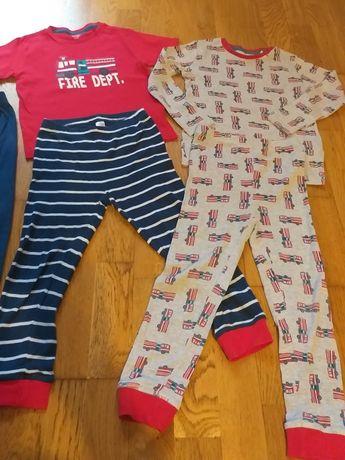 Piżamka dla chłopca 110 straż pożarna krótki rękaw długie spodnie
