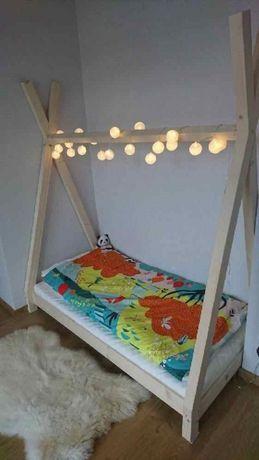 ŁÓŻKO TIPI drewniane 160 x 70 dla dzieci
