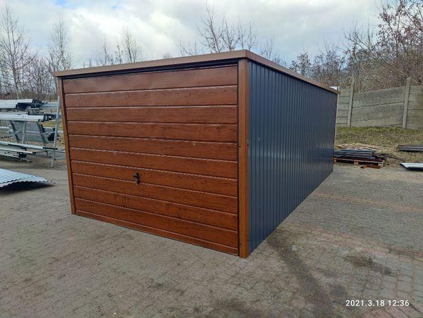 Garaż 3x5 Blaszak kolor grafit brama uchylna drewnopodobny 4x6 5x6 18.