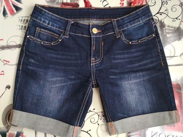 Шорты джинсовые с шипами, размер 26