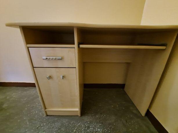 Meble młodzieżowe zestaw: szafa, biurko, komoda, słupek, dwie półki