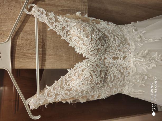 Suknia,welon,ślubna nr roz 36,164cm