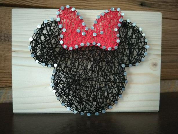 Minnie string art - rękodzieło Dzień Dziecka, inne okazje