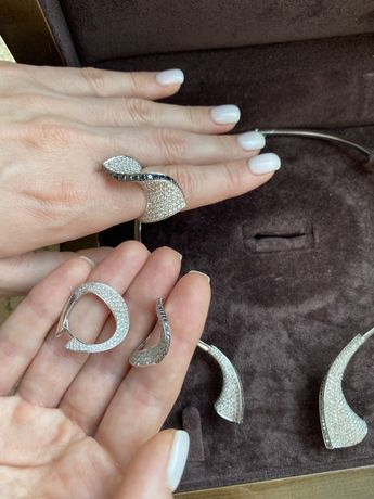 Бриллиантовый набор в стиле Grisogono с бриллиантами 14,5ct ( Cartier)