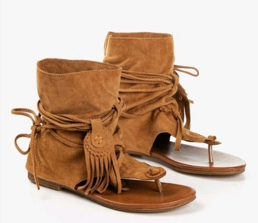 Sandały japonki z cholewką