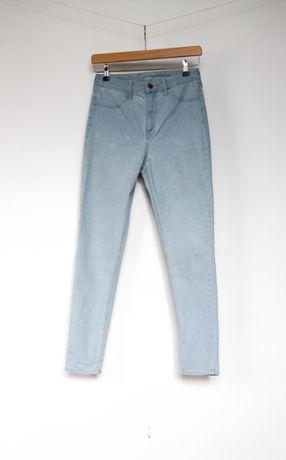 H&M jeansy rurki wysoki stan jasne spodnie 28 M