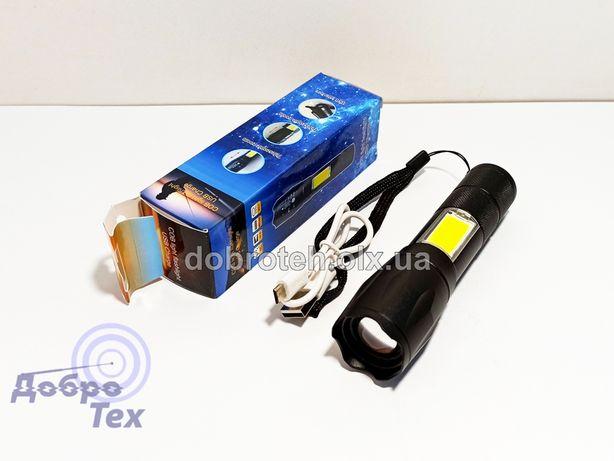 НОВЫЕ! BL-1831-T6+COB Мощный Компактный Фонарь фонарик USB Аккумулятор