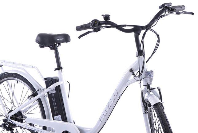 Rower elektryczny 28cali miejski biały i czarny ultra lekki