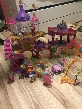 My little pony duzy zestaw zamek karuzela balon koniki