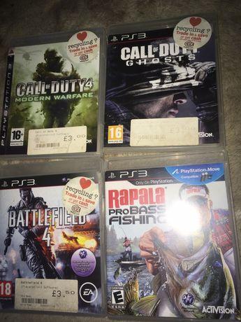 Sony PS3 ігри Rapala pro Bass Fishing Battlefield 4 Call of Duty 4 Cal