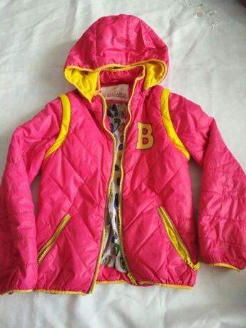 Рожева куртка демісезонна