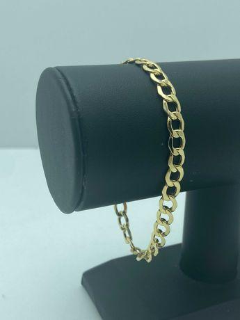 Złota bransoletka PANCERKA 5,06g 585 21cm