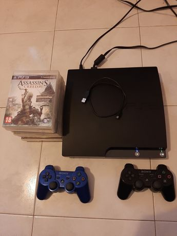 PS3 COM 2 COMANDOS DA SONY E 13 JOGOS