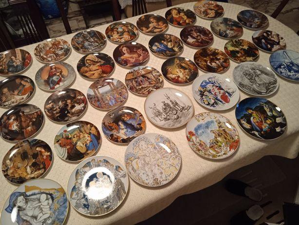 Pratos de coleção natal da Vista Alegre