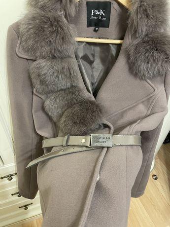 Пальто кашемир писец ( пальто с мехом )