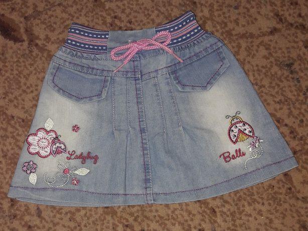 Спідниця джинсова/юбка джинсовая 92р (1,5-2,5роки)