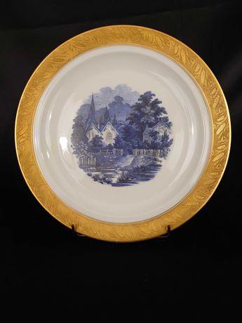 Piękny talerz porcelana LIMOGES Francja  I poł XX w. R. Leclair