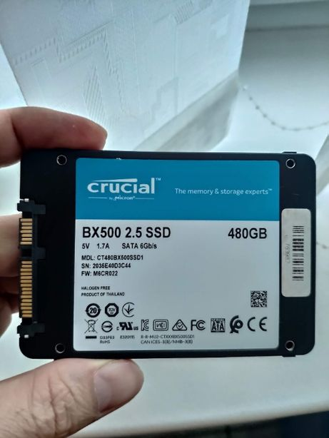SSD накопитель Crucial BX500 480 GB