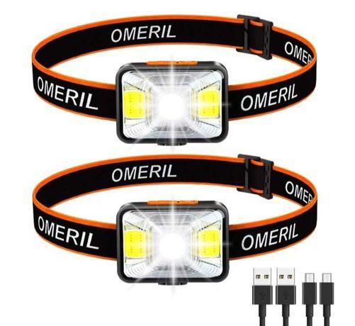 OMERIL  USB - 2 світлодіодні фари, з акумуляторною батареєю