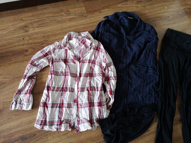 Ubrania damskie ciążowe rozmiar 38 M koszula spodnie rajstopy H&M