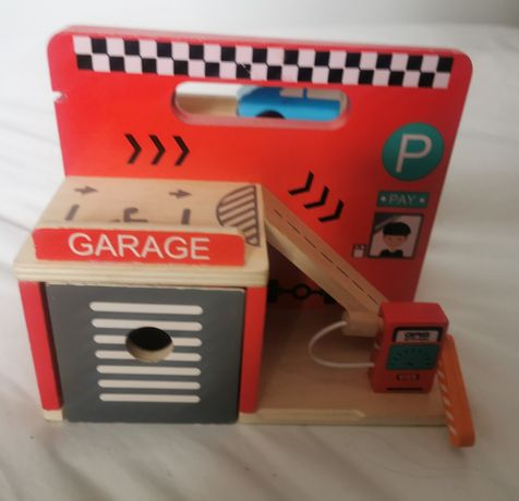 Minni matters garaż zabawki drewniane