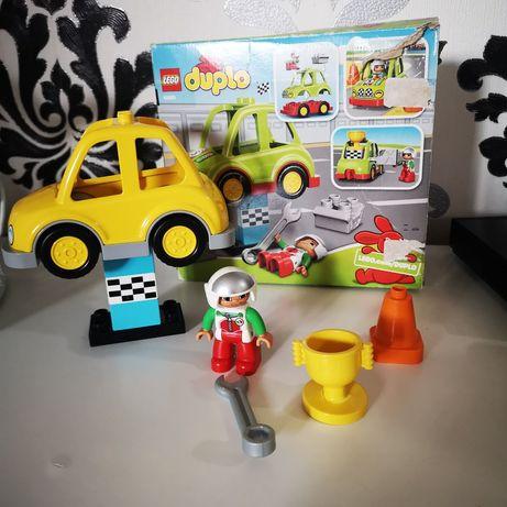 Zestaw wyścigówka, auto wyścigowe Lego Duplo, jak nowe