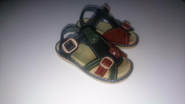 sandały sandałki chłopięce skóra r 24 14cm