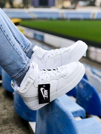 Кроссовки зимние белые Nike Air Force High White Winter Найк Аир Форс