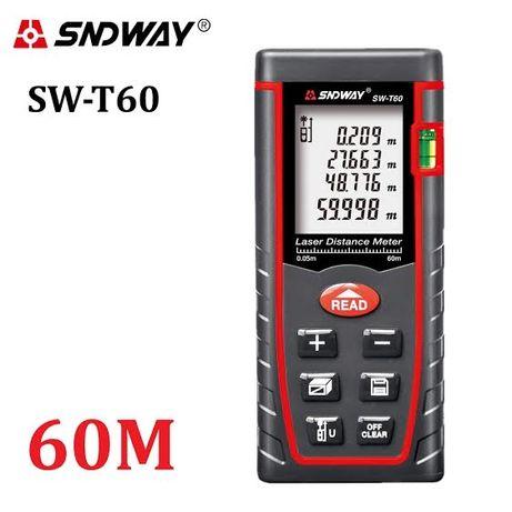 SNDWAY SW-T60 (60 метров) Лазерная рулетка/ Лазерный дальномер