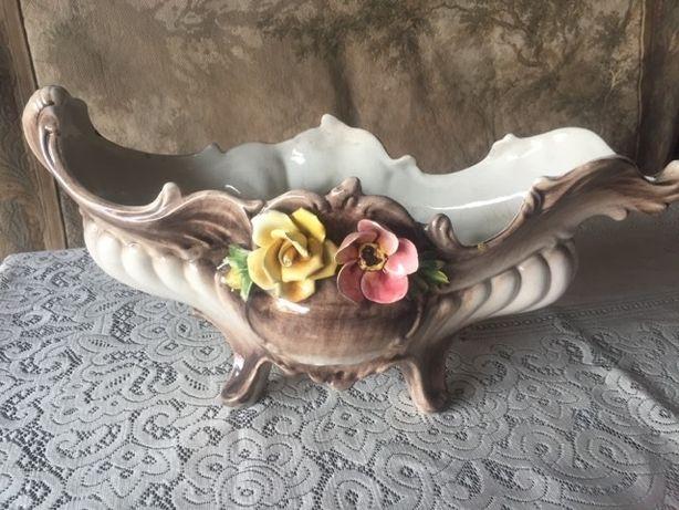 Okazja! Ciekawa, bogato zdobiona ceramika włoska. Retro.