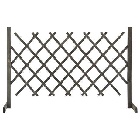vidaXL Vedação em treliça para jardim 120x90 cm abeto maciço cinzento 314825