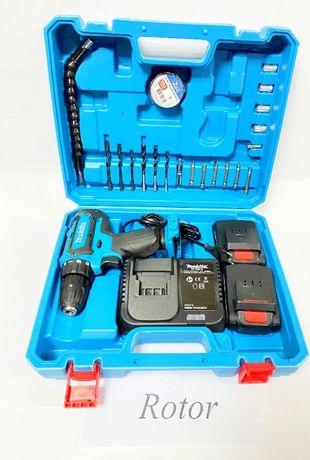 Шуруповерт аккумуляторный Makita DHP 482 18V 2Ah с набором Румыния