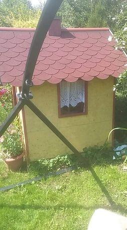 Drewniany domek altanka ogrodowa dla dzieci