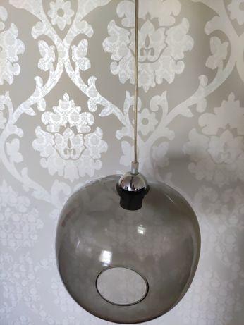 Lampa z brązowego szkła