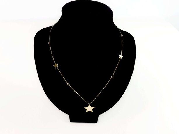 Złoty łańcuszek z gwiazdkami P585 3,33G